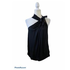 Gucci One Shoulder, High Neck, Bow Tie Blouse